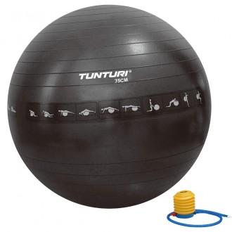 Gymball 75cm, Black, Anti Burst -...