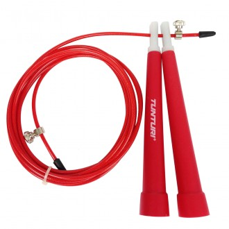 Jumprope Steel, Adjust. Length, Red -...