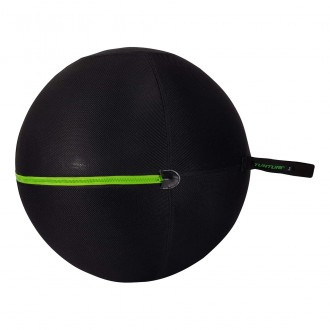 Gymball Cover With Green Zipper -...