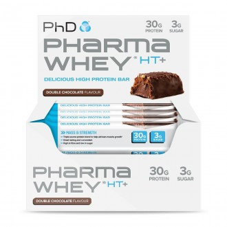 Pharma Whey HT+ Bar (12x75g) Double...