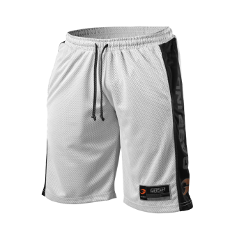 No1 Mesh Shorts (White/Black) - GASP