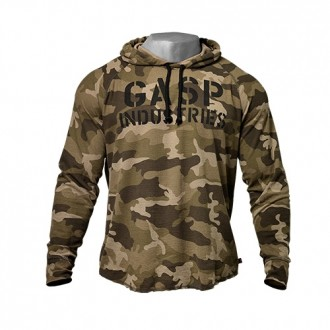 L/S Thermal Hoodie (Green Camo) - GASP