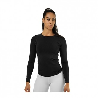 Nolita Seamless LS (Black Melange) -...