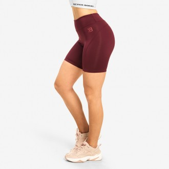 Chrystie Shorts (Deep Maroon) -...