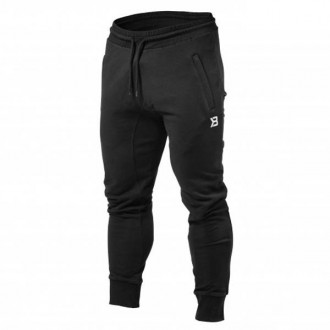 Tapered Joggers (Black) - Better Bodies