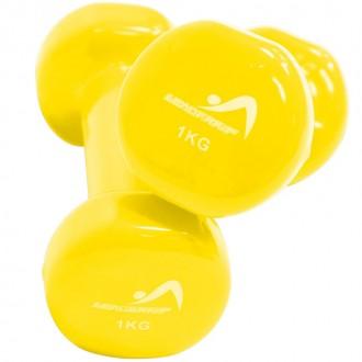 Haltères vinyle 1kg jaune