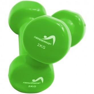 Haltères vinyle 2kg vert