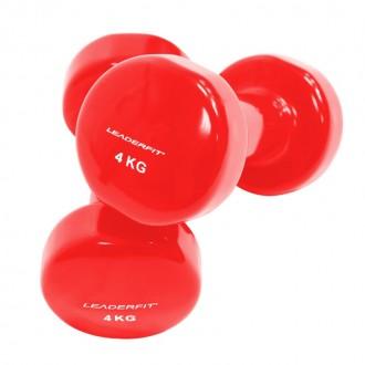 Haltères vinyle 4kg rouge
