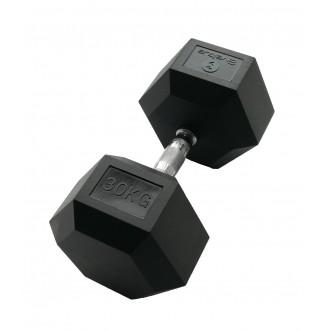 Haltère hexagonale 30 kg x1 - Sveltus