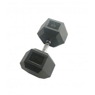 Haltère hexagonale 45 kg x1 - Sveltus