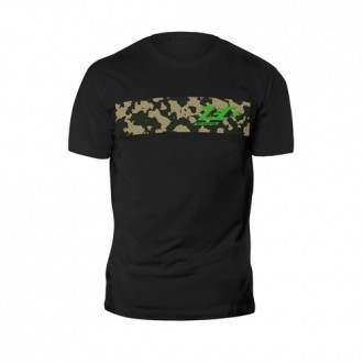 T-Shirt Camou Shirt Black Green Logo...