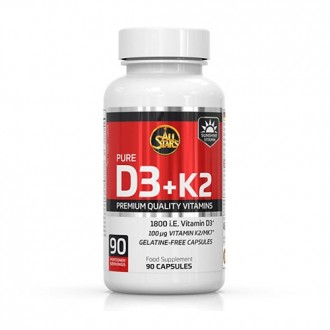 Vitamin D3+K2 (90 caps) - All Stars