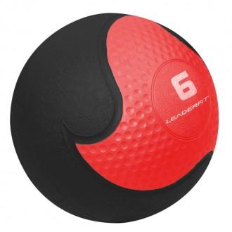 Medecine Ball 6kg - Rouge et Noir -...