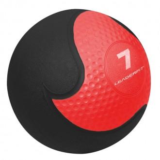 Medecine Ball 7kg - Rouge et Noir -...