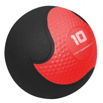 Medecine Ball 10kg - Rouge et Noir -...