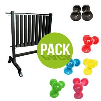 Pack série haltères fitness + rack