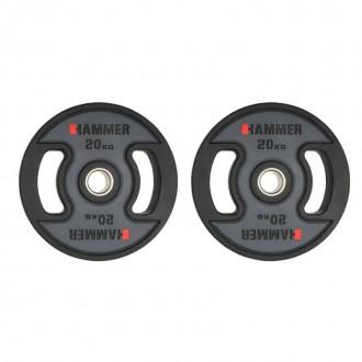 Disque noir Hammer PU - 20kg