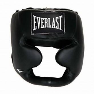 Leather Full Protect Headgear (Black)...
