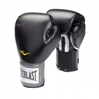 Leather Velcro Training Glove (Black)...