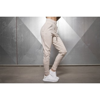 Double Destroyed Jogger (Beige) - Body Engineers