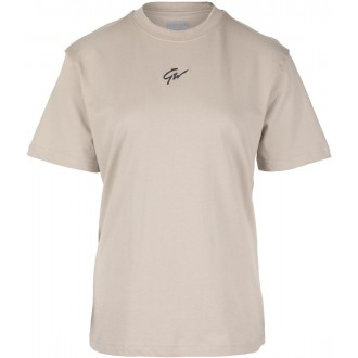 Bixby Oversized T-Shirt - Beige -...
