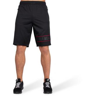 Branson Shorts Black/Red - Gorilla Wear