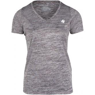 Elmira V-Neck T-Shirt Gray Melange -...