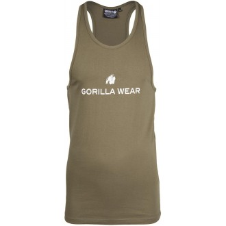 Carter Stretch Tank Top Army Green -...