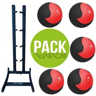 Pack Rack + 5 Medecine Balls