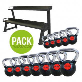 Pack Rack + Kettlebell noir 4kg à 40kg