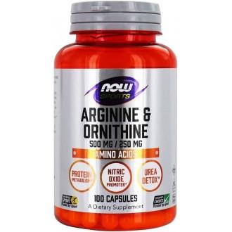 Arginine/Ornithine (100) - Now Foods