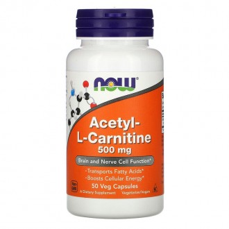 Acetyl L-Carnitine 500mg - Now Foods