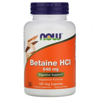 Betaine HCl (120) - Now Foods