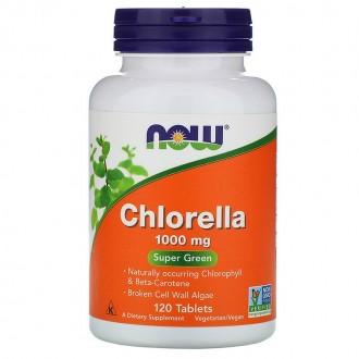 Chlorella 1000mg (120) - Now Foods