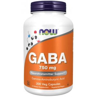 Gaba 750mg + B6 (200 vcaps) - Now Foods