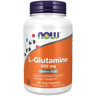 L-Glutamine 500mg (120 vcaps) - Now...