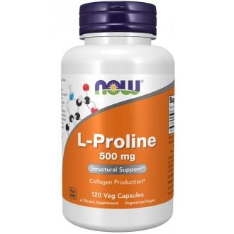L-Proline 500mg (120) - Now Foods