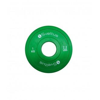 Mini disque olympique 1 kg x1 - Sveltus