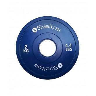 Mini disque olympique 2 kg x1 - Sveltus