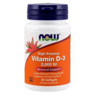 Vitamin D3 2000IU - Now Foods