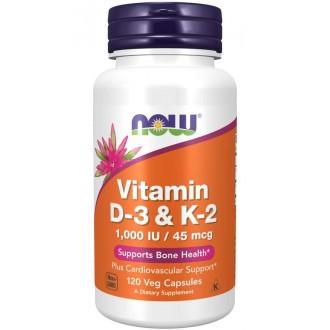 Vitamin D3 & K2 - 1000IU/45mcg (120)...