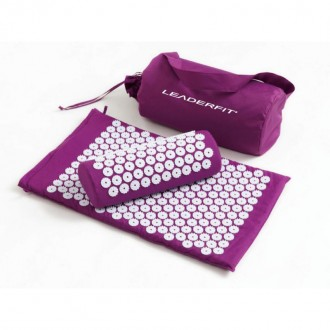 Tapis d'acupression violet + coussin