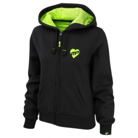 "Sweat Zip ""Strong Is The New Sexy"" Black-Lime Green 