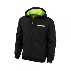 "Sweat Zip ""Train Hard Hit Harder"" Black-Lime Green 