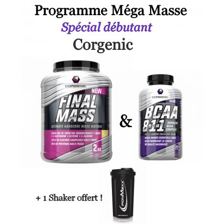 Programme Méga Masse pour Débutants   Corgenic