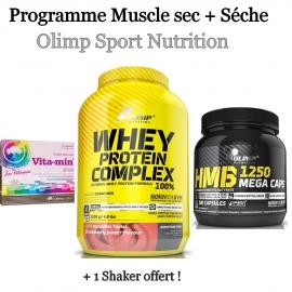 Programme Muscle sec + Séche   Olimp Sport Nutrition