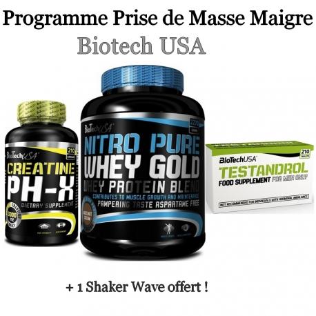 Programme Prise de Masse Maigre | Biotech USA
